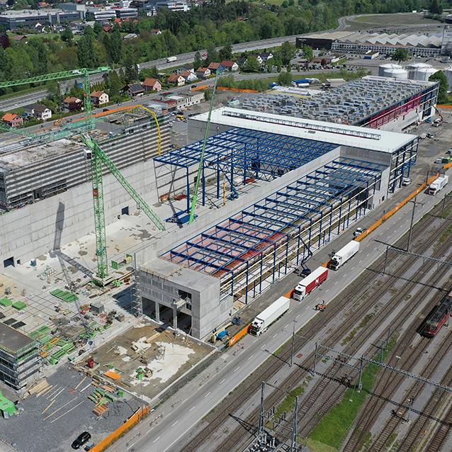 Neubau Stadler Rail AG Stahlttraeger Hohlprofile Startseite Teaser
